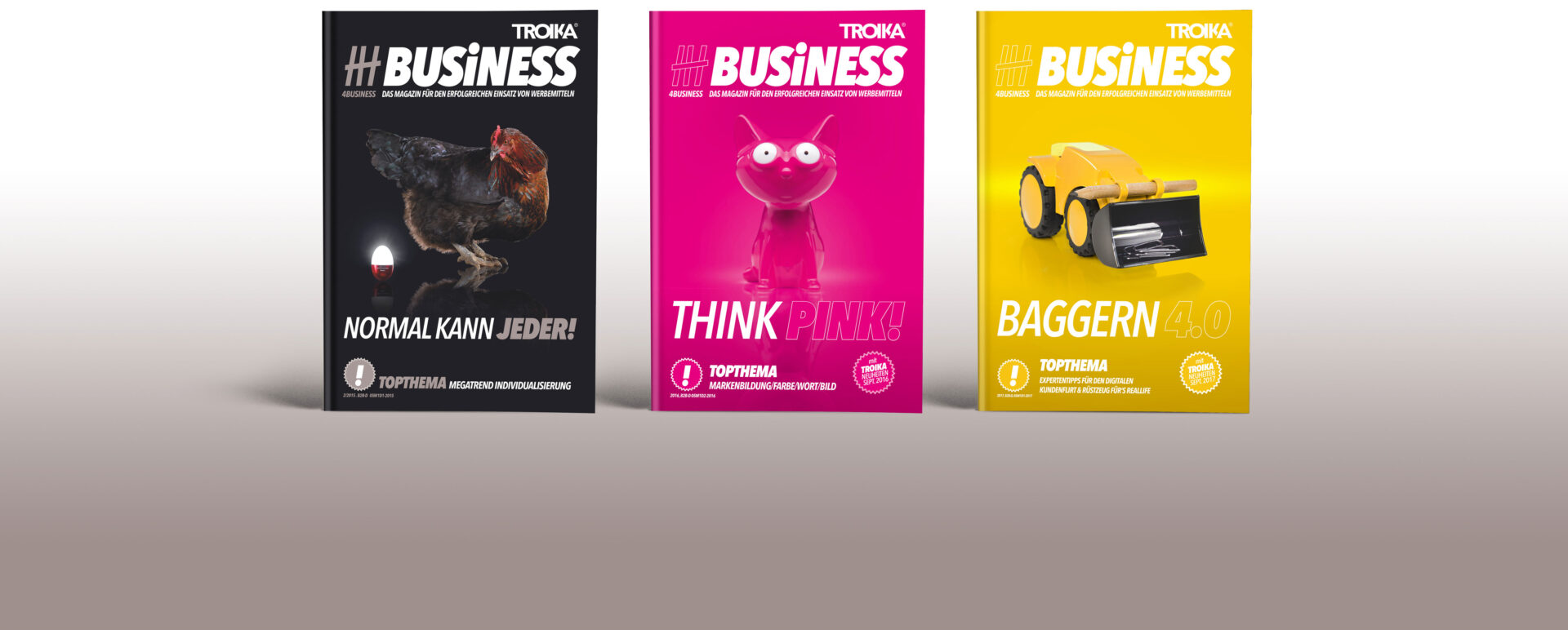 4Business - 3 Magazin-Covers
