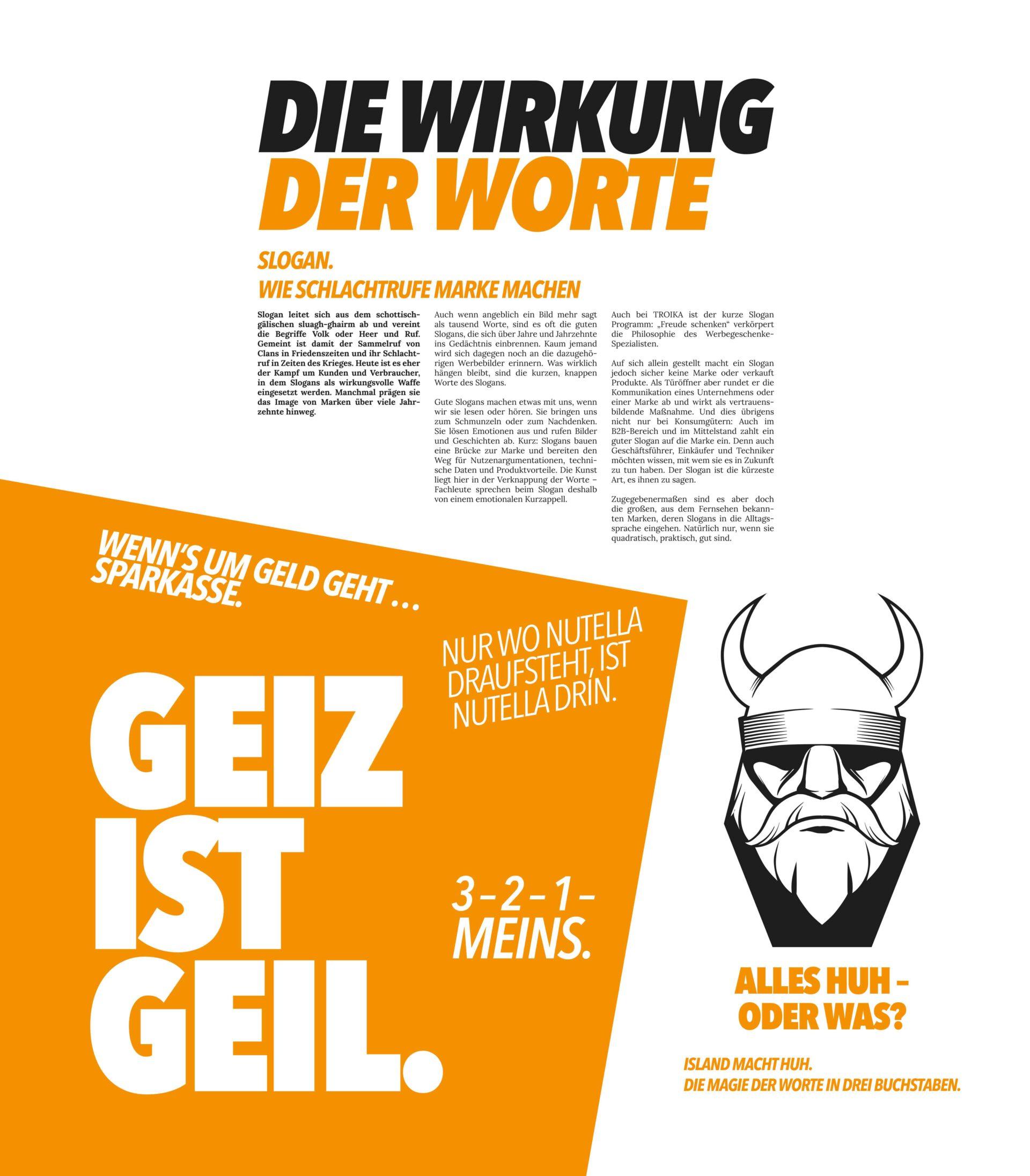 4Business Magazin-Entwurf Die Wirkung der Worte