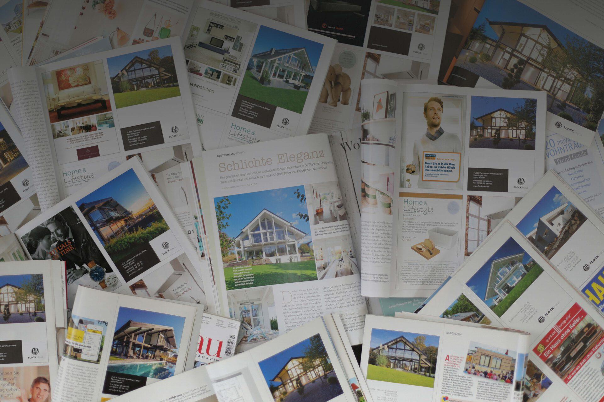Anzeigen Printkampagne für FLOCK Haus