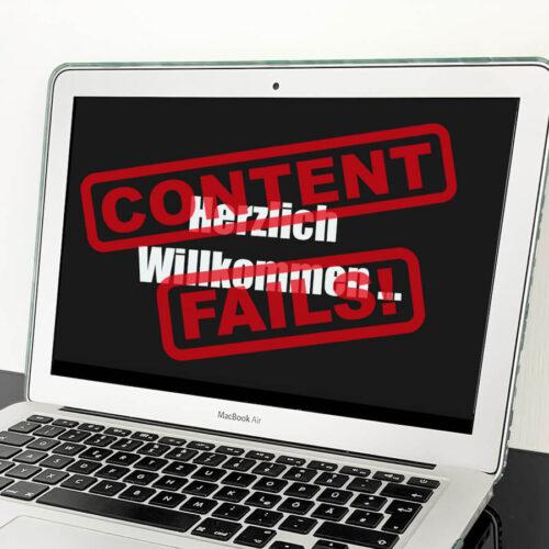 Die 7 häufigsten Fails im Content Marketing