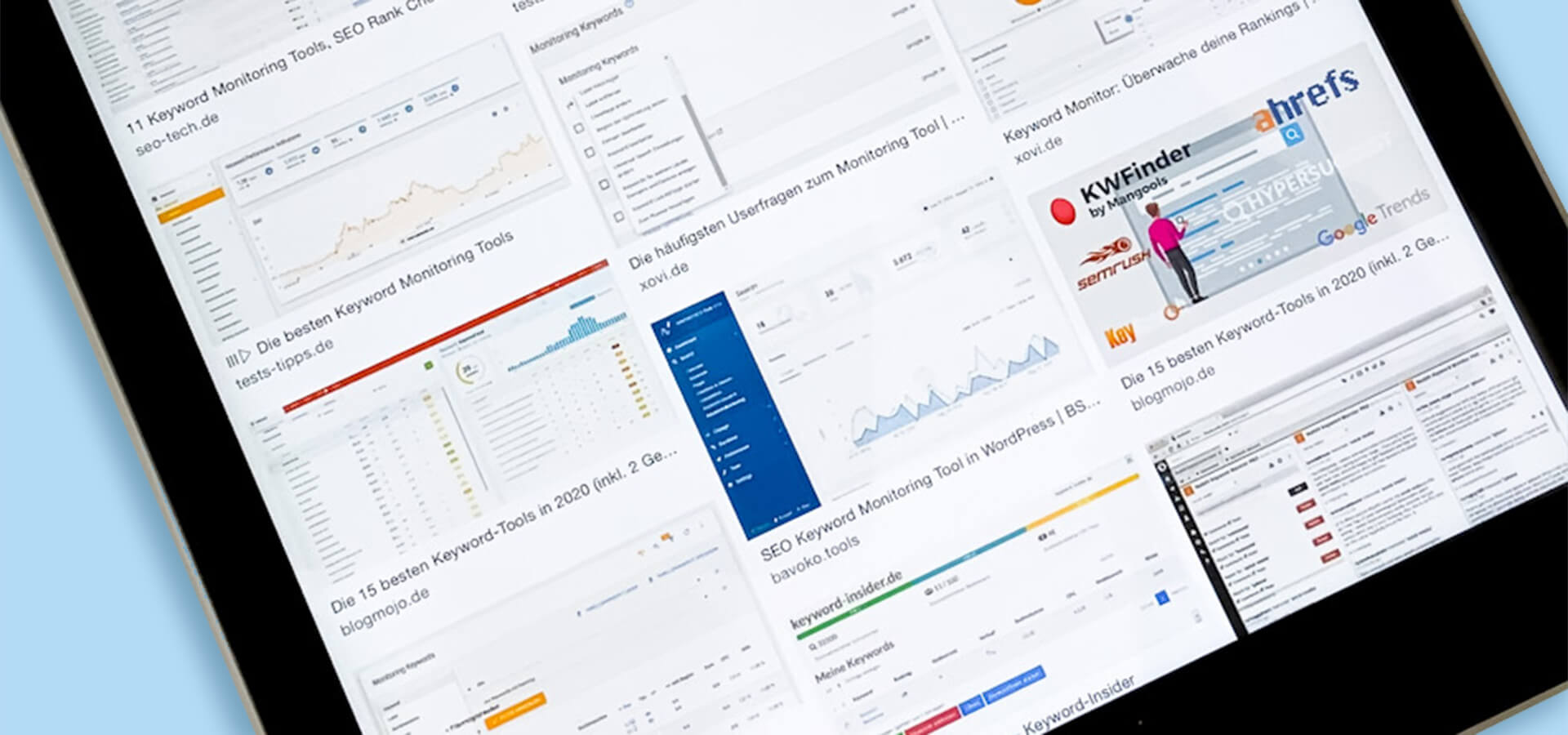 Keyword-Tool und Monitoring-Tool